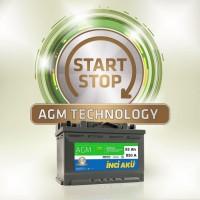 92 Amper Start Staop İnci Akü |AGM