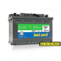 80 Amper Start Staop İnci Akü |AGM